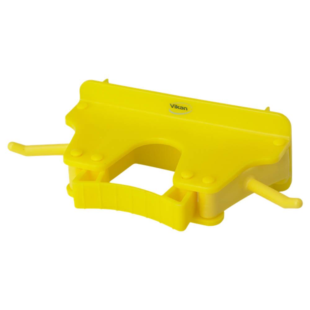 Nástěnný věšák na 1 - 3 produkty, 155mm žlutý, ks - Čisticí přípravky pro kuchyně, restaurace a do myček nádobí
