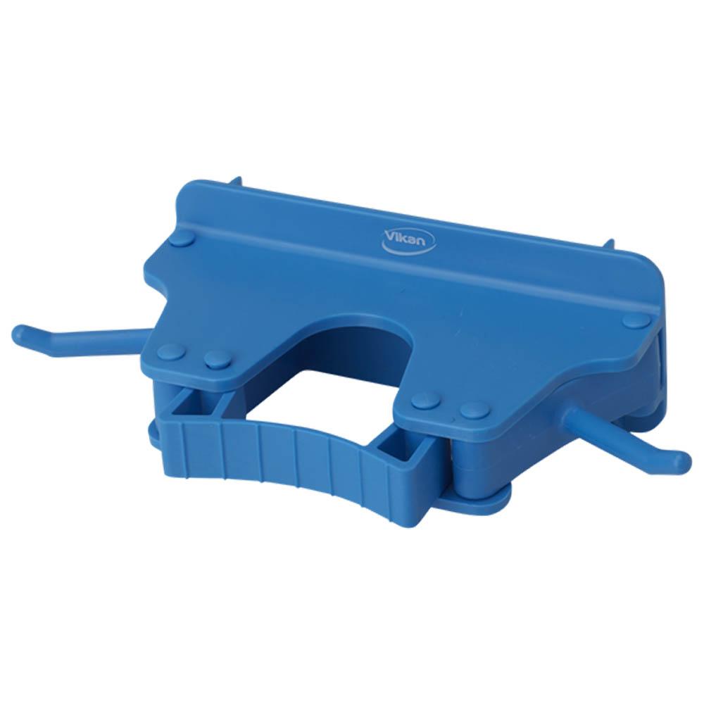 Nástěnný věšák na 1 - 3 produkty, 155mm modrý, ks - Čisticí přípravky pro kuchyně, restaurace a do myček nádobí