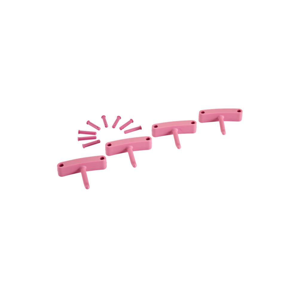 Háčky pro věšák 1017 a 1018, 4ks růžové, ks - Čisticí přípravky pro kuchyně, restaurace a do myček nádobí