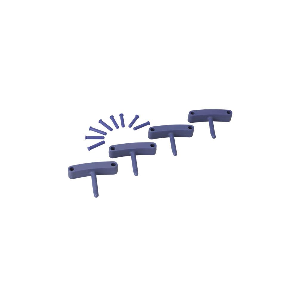 Háčky pro věšák 1017 a 1018, 4ks fialové, ks - Čisticí přípravky pro kuchyně, restaurace a do myček nádobí