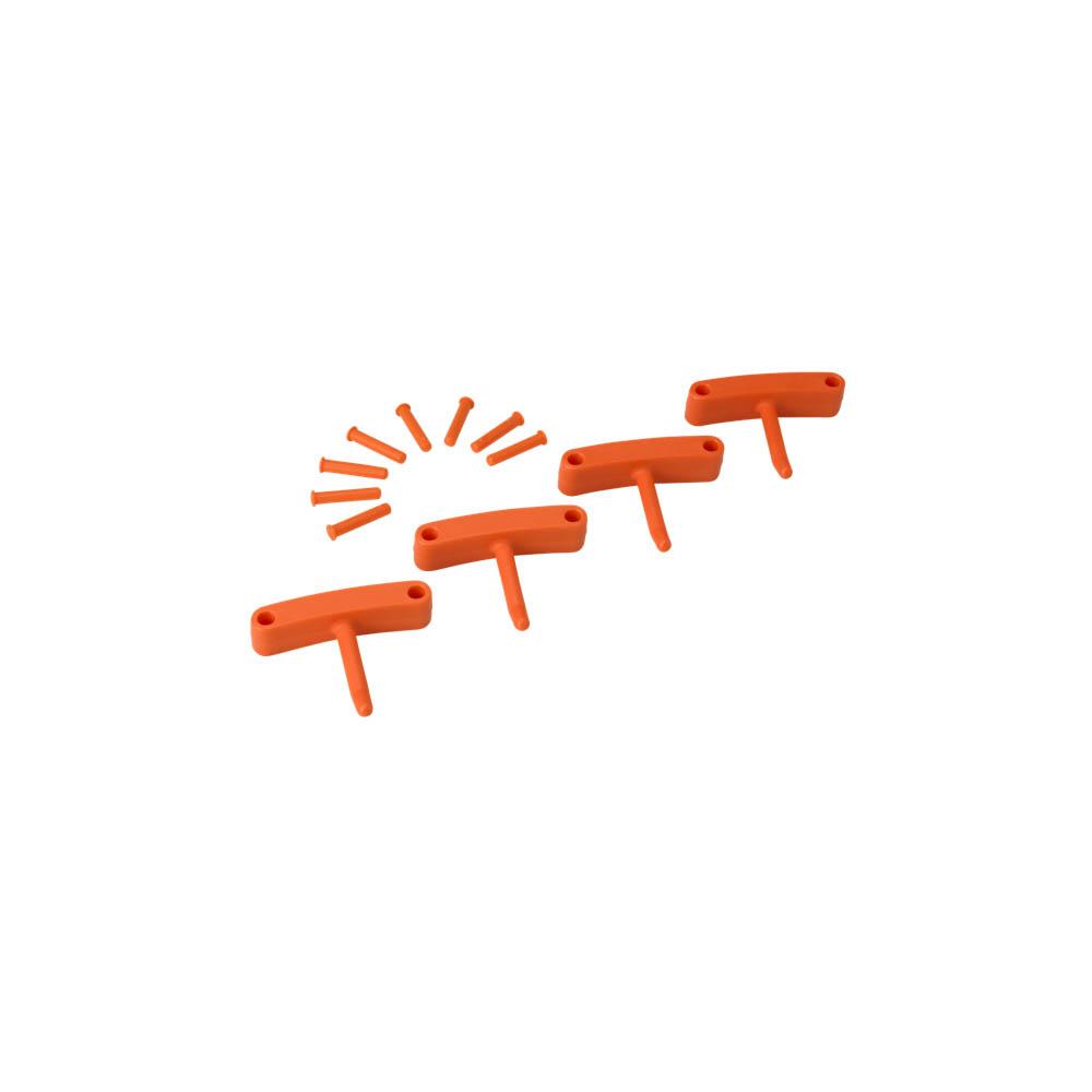 Háčky pro věšák 1017 a 1018, 4ks oranžové, ks - Čisticí přípravky pro kuchyně, restaurace a do myček nádobí
