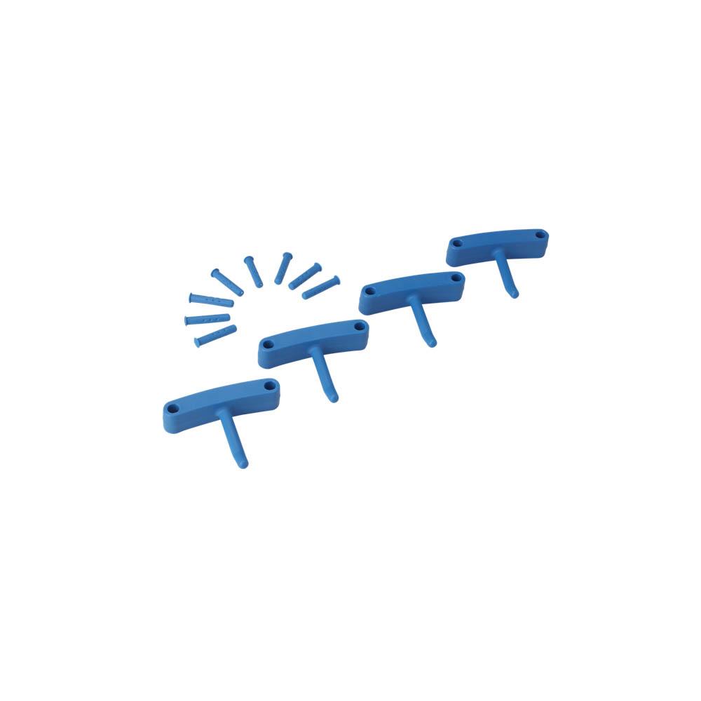 Háčky pro věšák 1017 a 1018, 4ks modré, ks - Čisticí přípravky pro kuchyně, restaurace a do myček nádobí