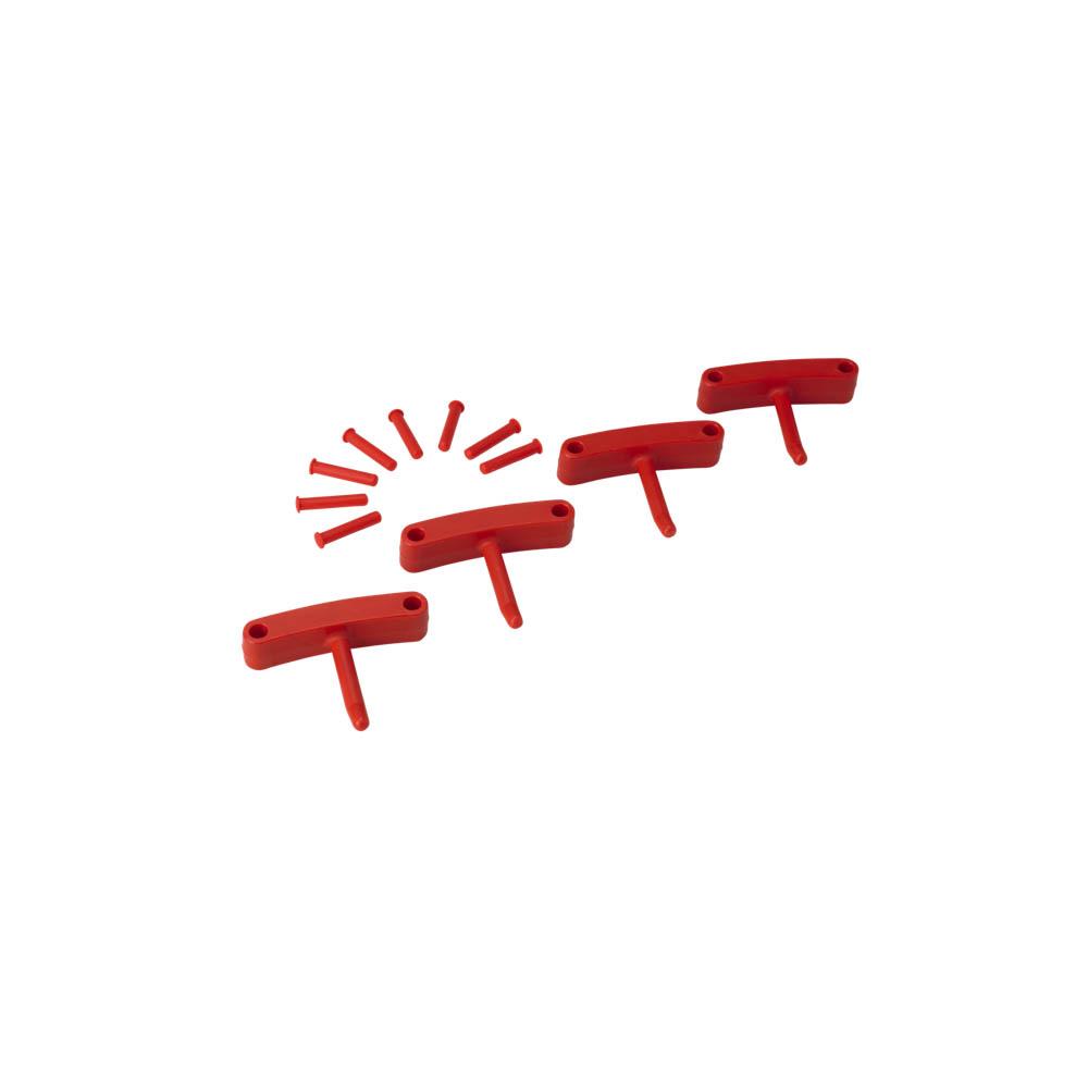 Háčky pro věšák 1017 a 1018, 4ks červené, ks - Čisticí přípravky pro kuchyně, restaurace a do myček nádobí