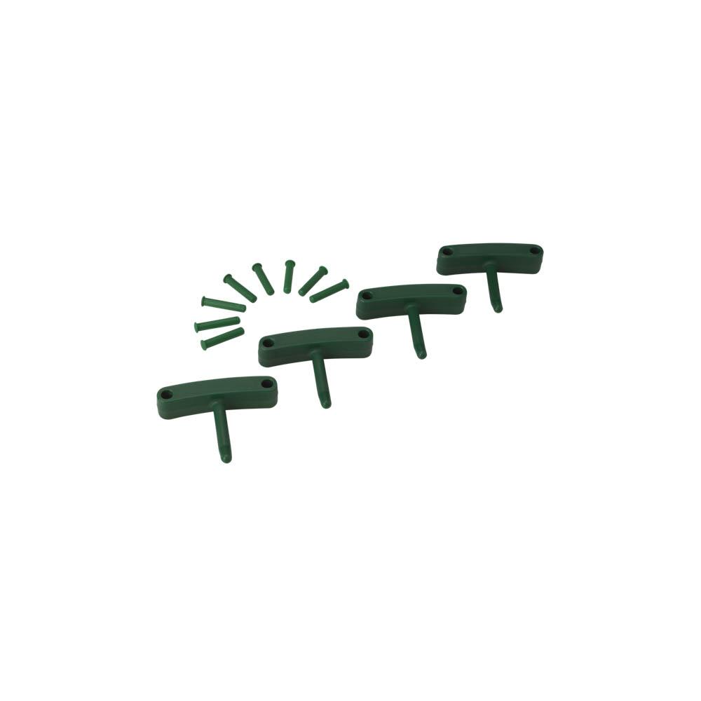 Háčky pro věšák 1017 a 1018, 4ks zelené, ks - Čisticí přípravky pro kuchyně, restaurace a do myček nádobí