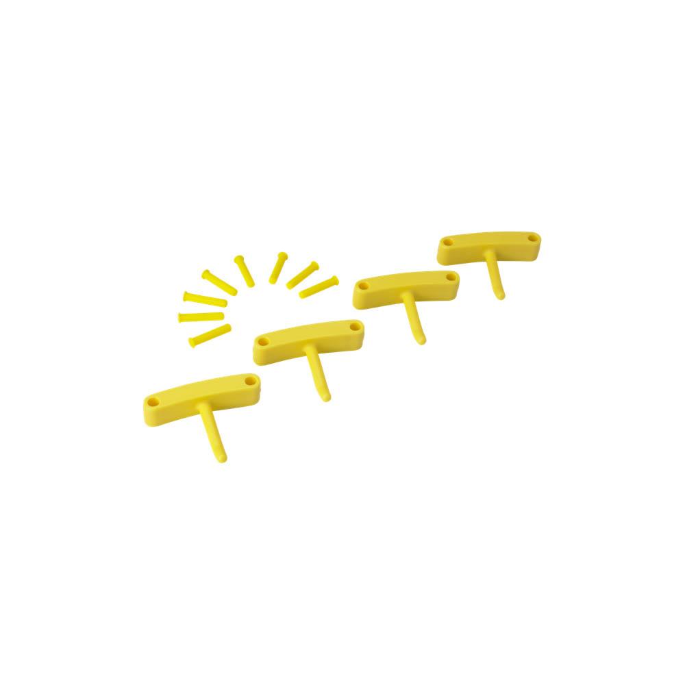 Háčky pro věšák 1017 a 1018, 4ks žluté, ks - Čisticí přípravky pro kuchyně, restaurace a do myček nádobí